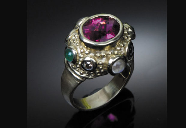 Pink Tourmaline in 14kt Gold Ring