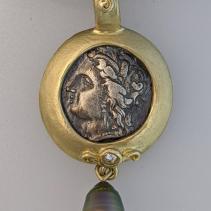 Demeter, AR Nomos, 14kt Gold Pendant