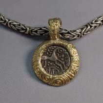 Ancient Celtic AR Unit 14kt Gold Pendant