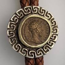 Marcus Aurelius, AE Dupondius, SS/14kt Bolo