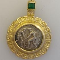 Wrestlers, AR Stater, 14kt Gold Pendant