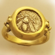 Bee, AR Diobol, 14kt Gold Ring