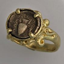 Amphora, AR Obol, 14kt Gold Ring