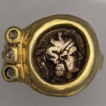 Athena, AR Diobol, 14kt GoldRing