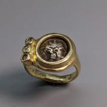 Athena AR Diobol 14kt Gold Ring