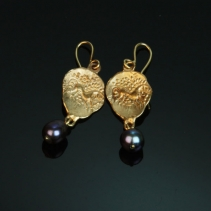 14kt Gold Celtic Coin Replica Earrings