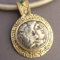 Alexander the Great, 14kt Pendant with Emerald
