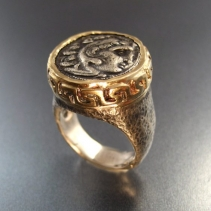 Alexander the Great, SS/14kt Ring