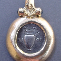 Amphora Coin, 14kt Pendant