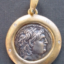 Antiochus VII, 14kt Pendant