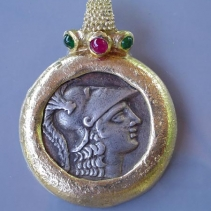 Athena Pamphylia, 14kt Pendant