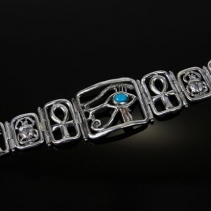 Egyptian Sterling Silver Bracelet