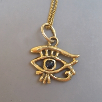 14kt Eye of Horus Pendant