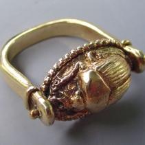 14kt Gold Scarab Ring