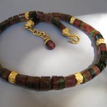 Fine Bi-Color Tourmaline, 18kt Necklace
