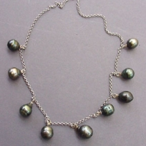 South Sea Pearl, 18kt White Gold Necklace
