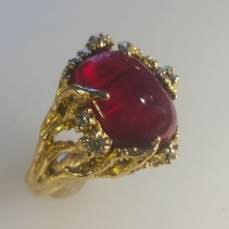 Rubellite 14kt Gold Ring