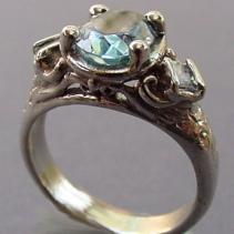 Aquamarine, 14kt White Gold Ring