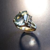 Aquamarine, 14kt Ring