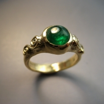 Emerald, 14kt Ring