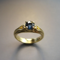Sapphire, 14kt Ring