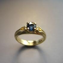 Sapphire, 14kt Ring
