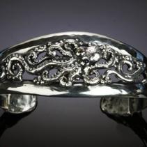 Octopus Sterling Silver Bracelet