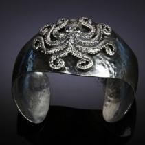 Octopus Sterling Silver Cuff Bracelet