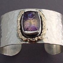 Ametrine, Sterling Silver and 14kt Gold Cuff Bracelet