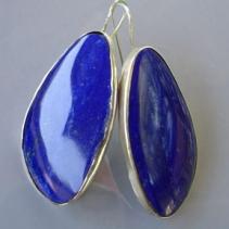 Lapis, Sterling Silver Earrings