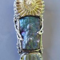 Botryoidal Agate, SS/14kt Pendant