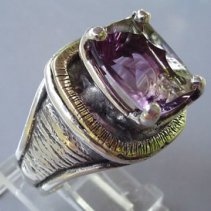 Ametrine, Sterling Silver and 14kt Gold Ring