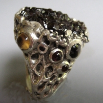 Androdite Garnet, Sterling Silver Ring View 2