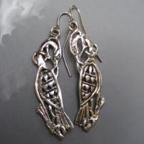 Sterling Silver Cormorant Earrings