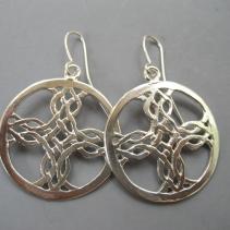 Sterling Silver Celtic Cross Earrings