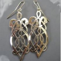 Sterling Silver Celtic Swan Earrings