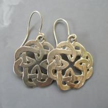 Sterling Silver Celtic Knotwork Earrings