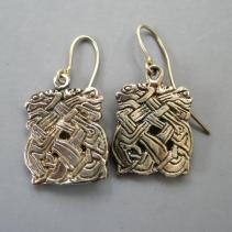Sterling Silver Celtic Creature Earrings