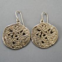 Sterling Silver Celtic Dog Earrings