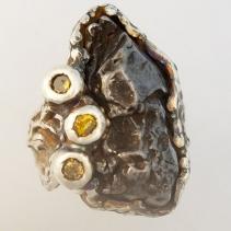Sikhote Alin Meteorite SS Ring