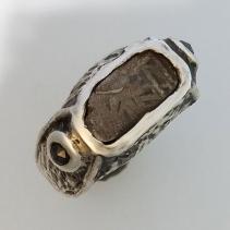Tambo Quemado Meteorite SS Ring