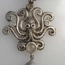 Octopus Sterling Silver Pendant
