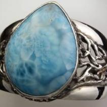 Larimar Sterling Silver Bracelet