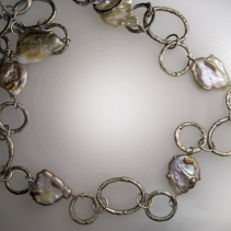 Sterling Silver Chain with Freshwater Pearl Necklace
