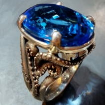 London Blue Topaz, Sterling Silver Ring