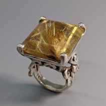 Rutilated Quartz Sterling Silver Ring